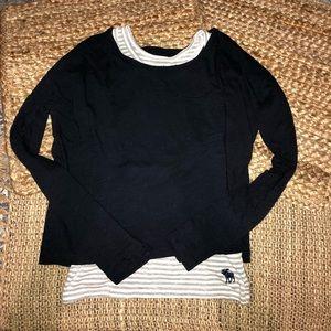Abercrombie Kids Navy Long Sleeved Shirt. Size 7/8